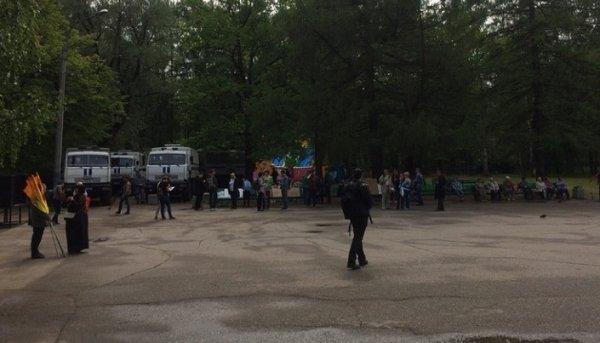 В Петербурге на митинг в защиту прав и свобод граждан вышли 150 человек