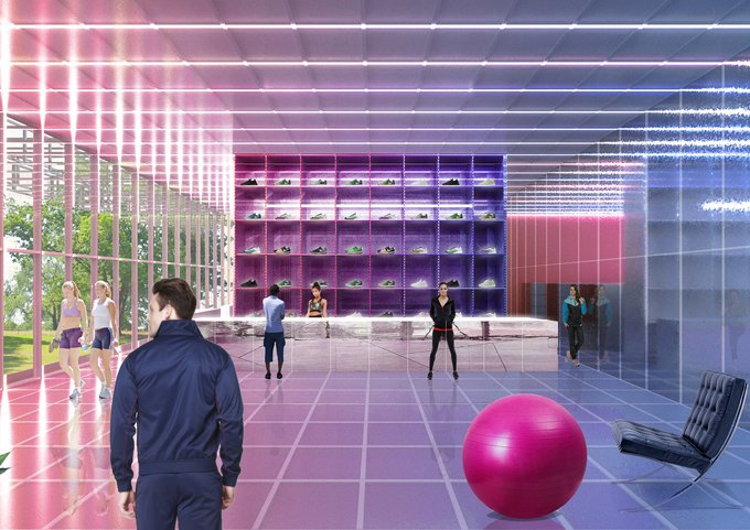 В парке Горького построили культурно-спортивный центр в виде «супер-коробки»