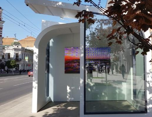В Ростове появилась остановка со встроенным телевизором