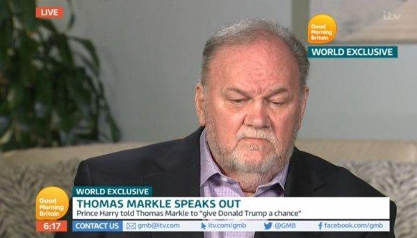 Отец Меган Маркл на телешоу проговорился о личном разговоре с принцем Гарри