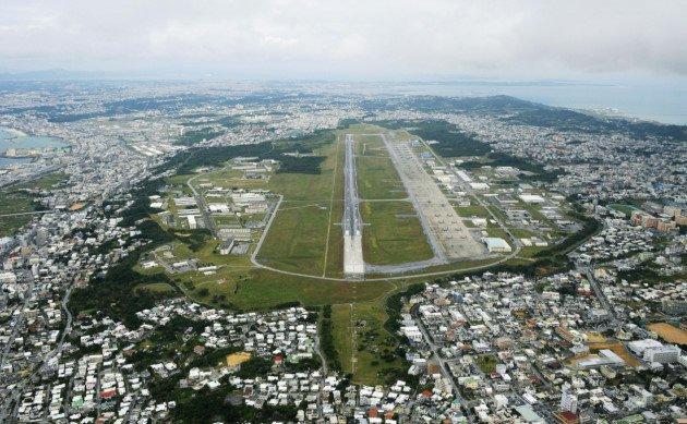 Японцы протестуют против строительства военного аэродрома США на Окинаве