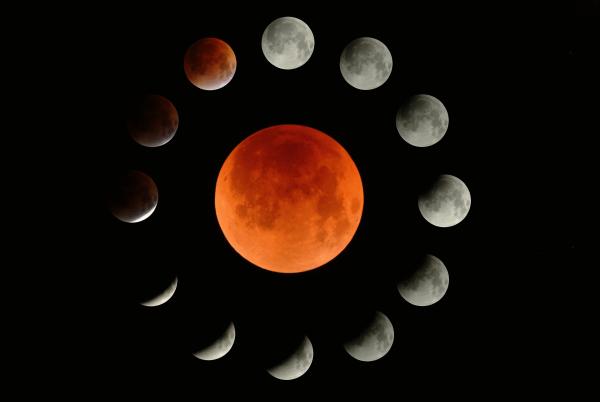 Россияне смогут наблюдать за полным затмением Луны и великим противостоянием Марса