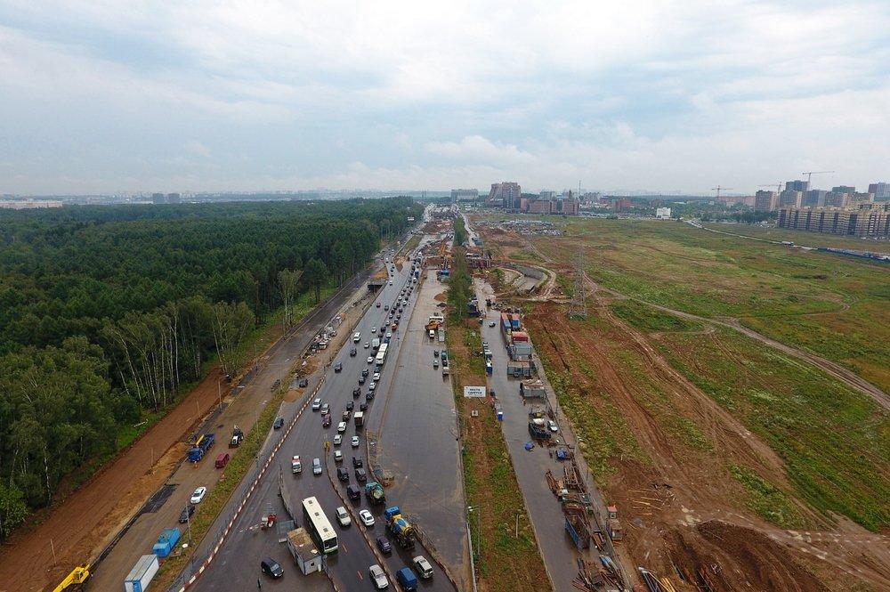Открыто движение по новой дороге от Киевского шоссе до Южного Бутова