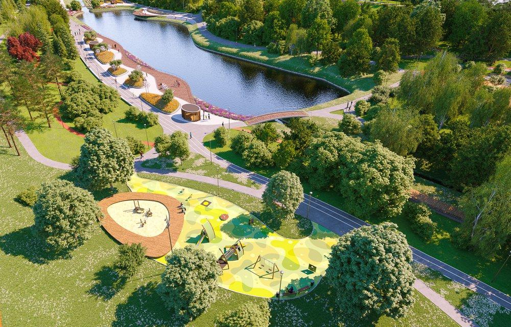 Как необычно благоустроят парк в пойме реки Битца в Северном Бутове