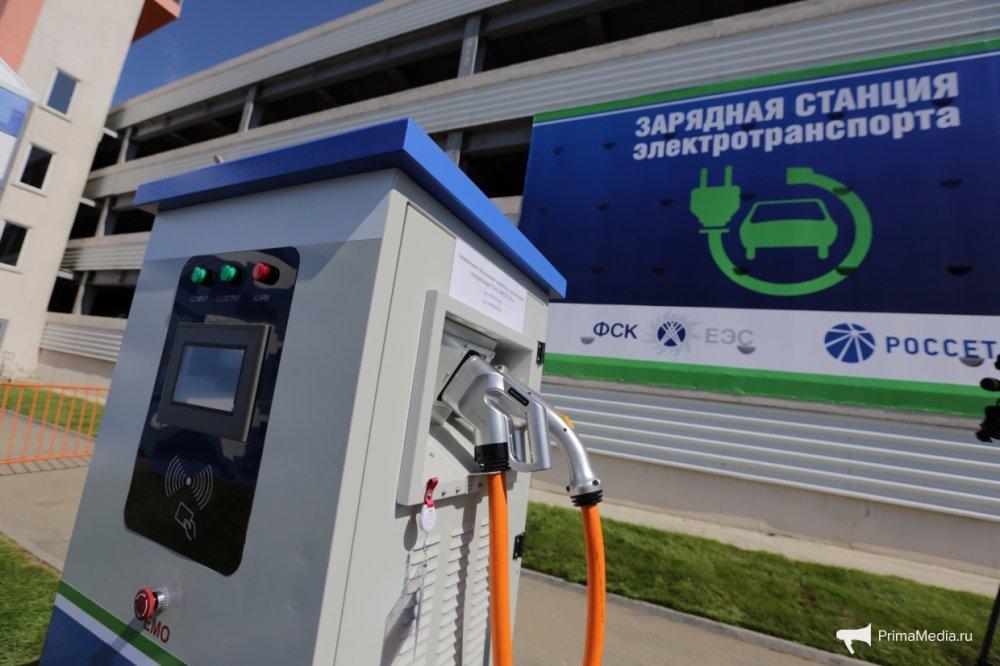 В Крыму появилась АЗС для электромобилей — на 15 машин в городе