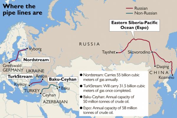 The Times: Путин использует трубопроводы для укрепления влияния России