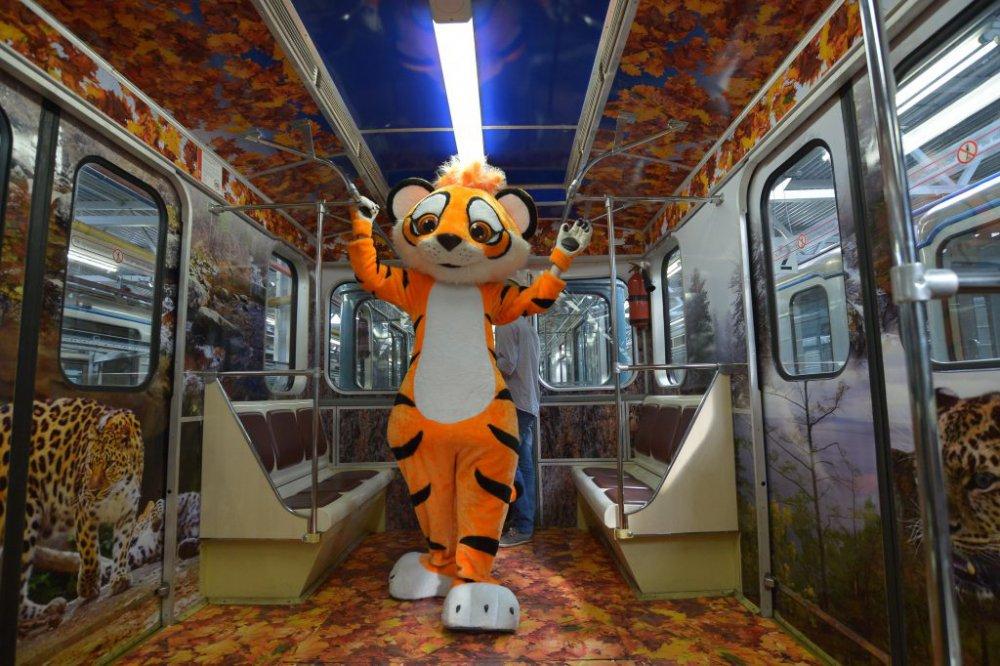 Как московский метрополитен отметит Международный день тигра