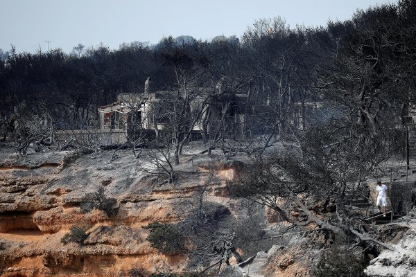 Эксперты считают, что пожар в Греции произошел из-за вторжения из космоса