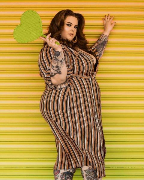 Plus-size модель Тесс Холлидей пожаловалась на стремительный набор веса