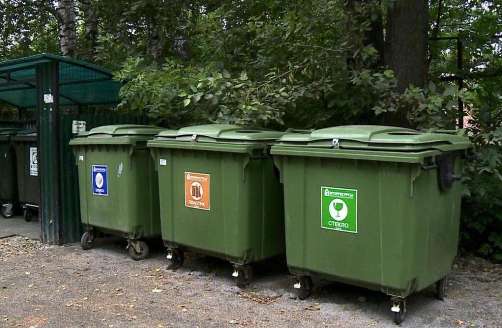 В лесах Подмосковья начали устанавливать мусорные контейнеры