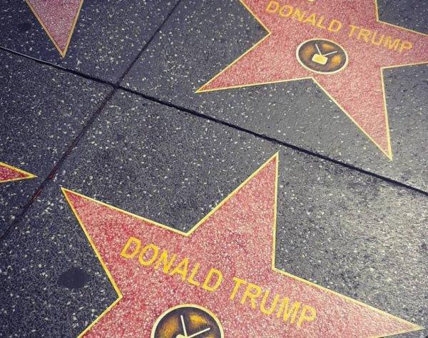 Звезда Трампа на Аллее славы в Голливуде размножилась за ночь