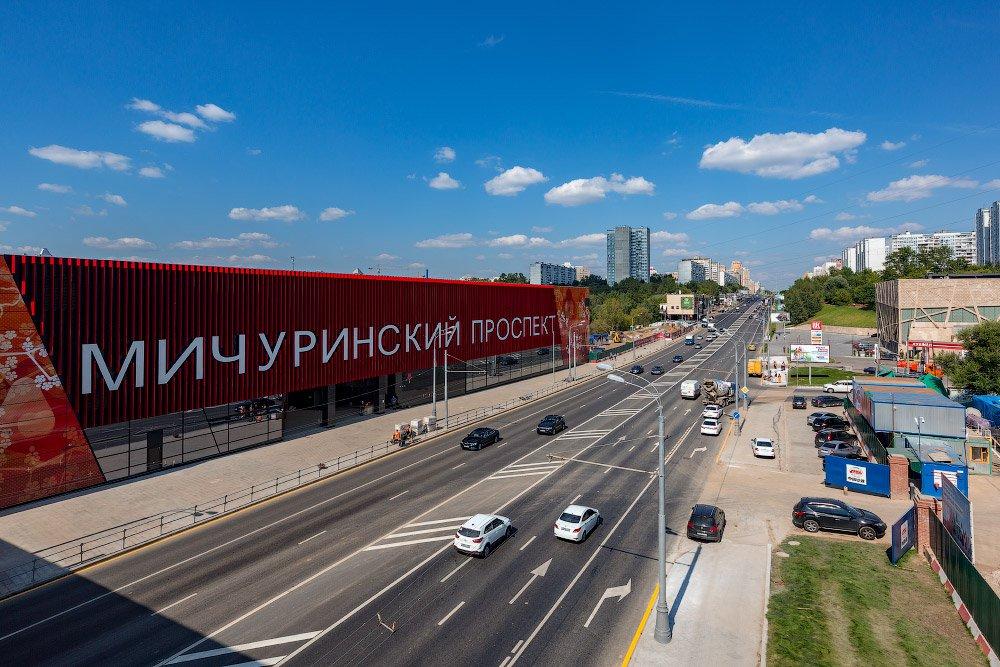 Началось строительство станции «Мичуринский проспект» Большой кольцевой линии