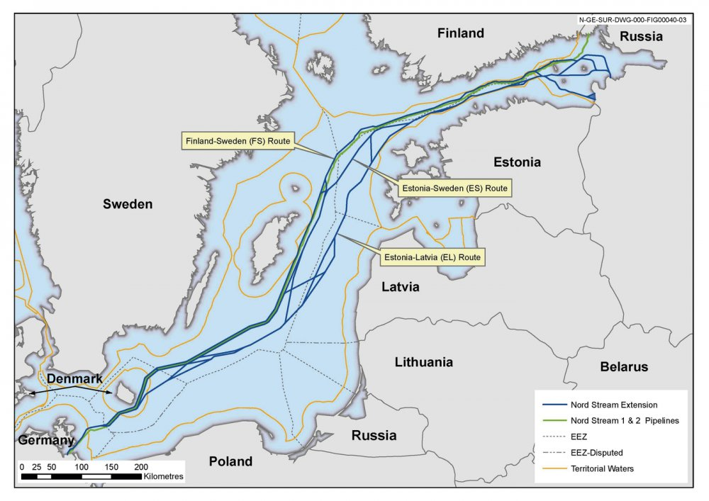 Получены все разрешения на строительство газопровода «Северный поток — 2» в России