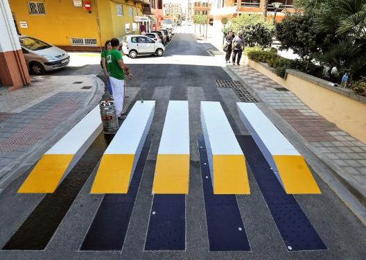 Три месяца будут тестировать резиновый пешеходный переход в ЮЗАО