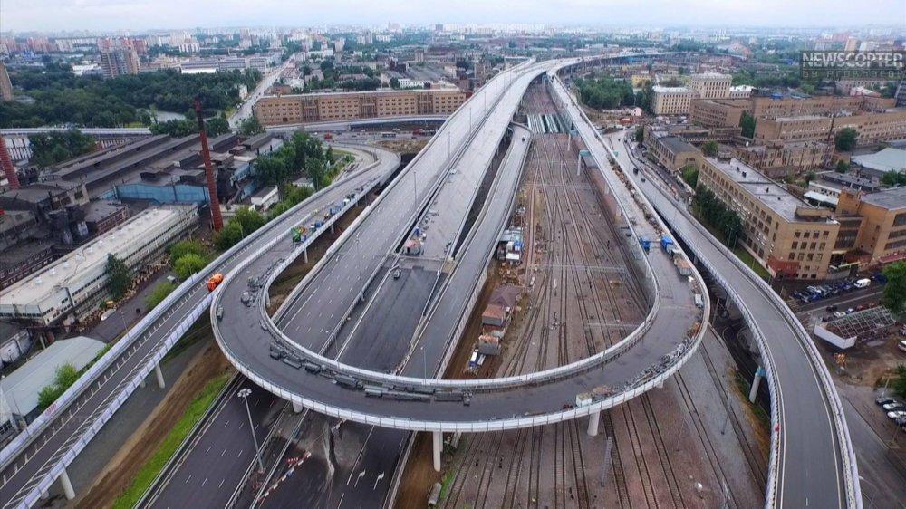 Открыта «первоклассная» и самая длинная эстакада в Москве