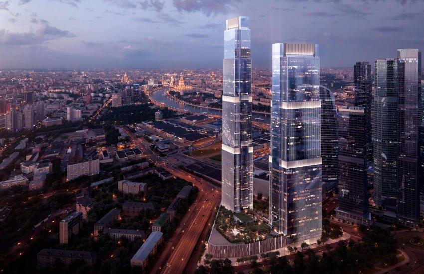 345-метровый небоскреб Neva Towers планируют построить в Москве в 2020 году
