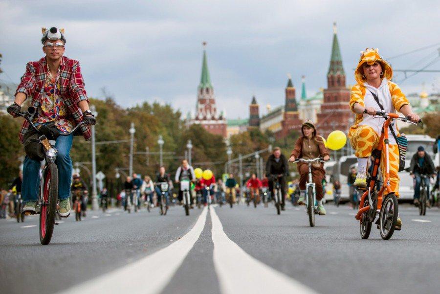 Какие улицы перекроют в день осеннего Московского велопарада