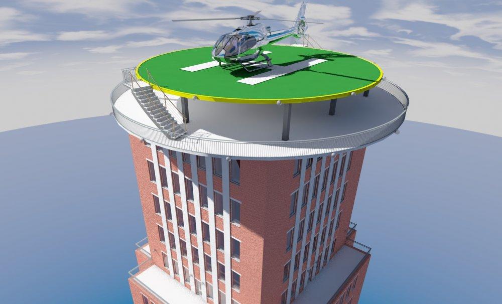 Разноцветный 6-этажный корпус с вертолетами построят в НИИ Склифосовского