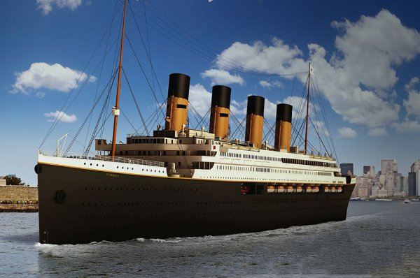 Современная копия «Титаника» пройдет маршрут оригинального корабля в 2022 году