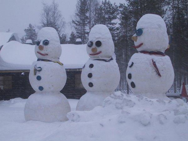 Новосибирцы сделали первых снеговиков в этом сезоне в праздничные выходные