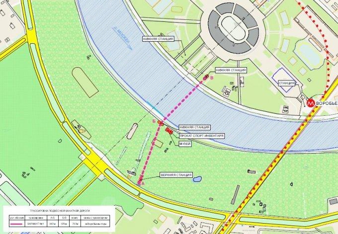 В Москве открылась 720-метровая канатная дорога до «Лужников»